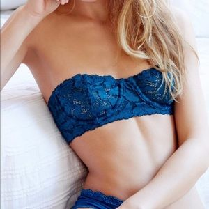 Free People Turquoise Lace Bra